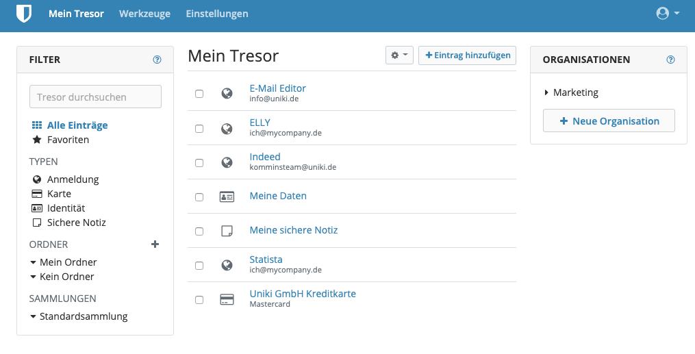 passwort manager; bitwarden